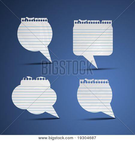 Paper speech bubbles