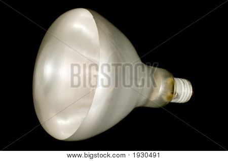 Lampe auf schwarz