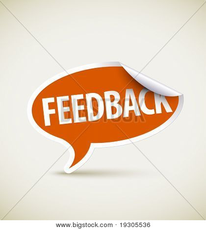 Feedback speech bubble as pointer with white border