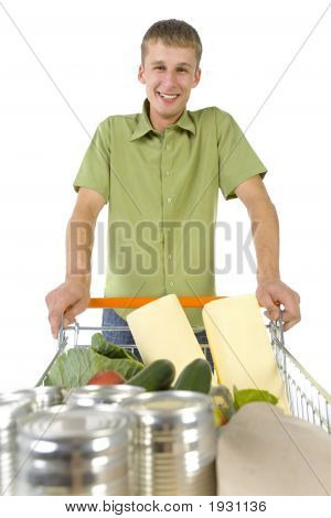 Funny Guy With Trolley