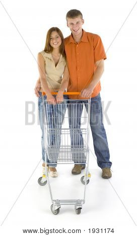 Happy Couple In Shop