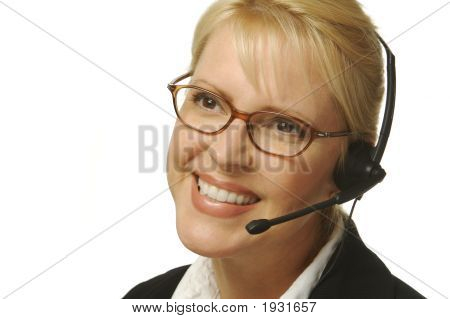 Beautiful Friendly Secretary/Telephone Operator.