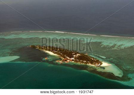 Atolón en Maldivas