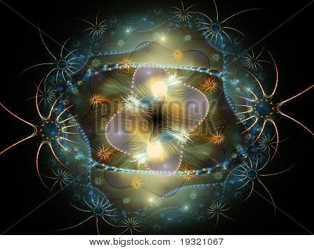 Abstract Deep-sea Fractal Wallpaper