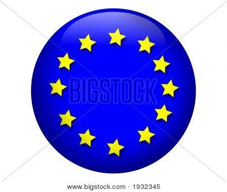 3D Europäische Union Flag Orb