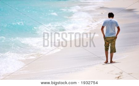 Man Walking Beach