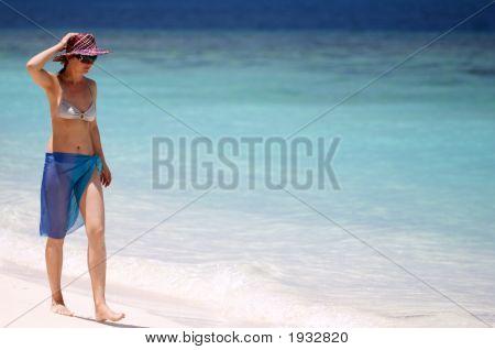 Chica de vacaciones