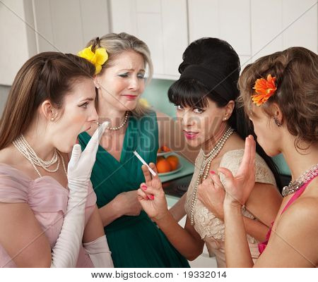 Women Gossiping In Kitchen