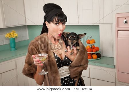 Woman Holds A Chihuahua