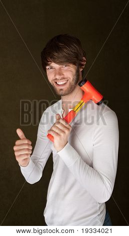 Handsome Man With Mallet