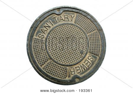 Manhole Cover, Isolated