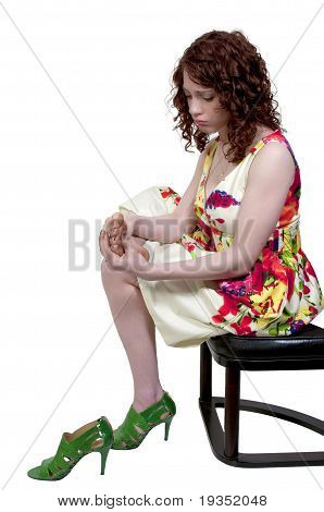 Woman With Sore Feet