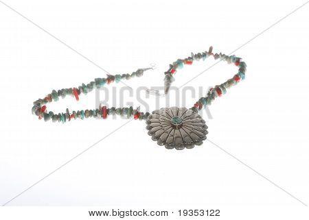 Silver Concho Pendant