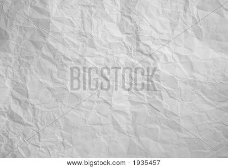 Papel arrugado de blanco