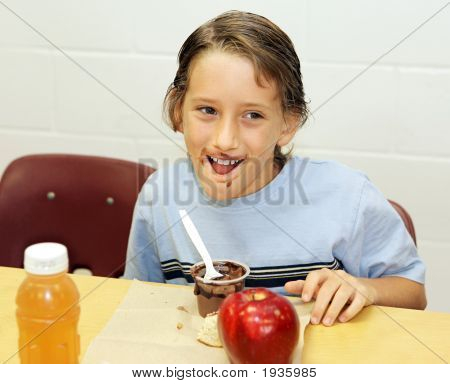 School Lunch - Messy Eater