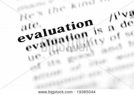 Evaluation (the Dictionary Project)