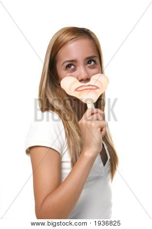 Woman With Sad Face