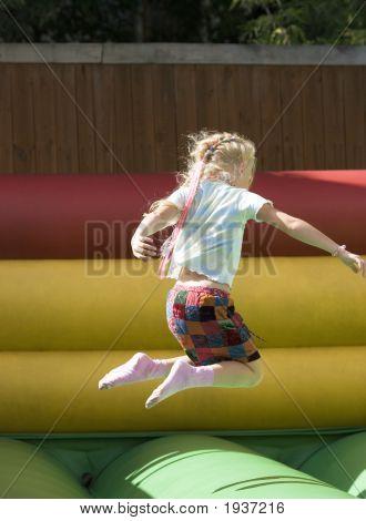 A Girl In  An Amusement Park