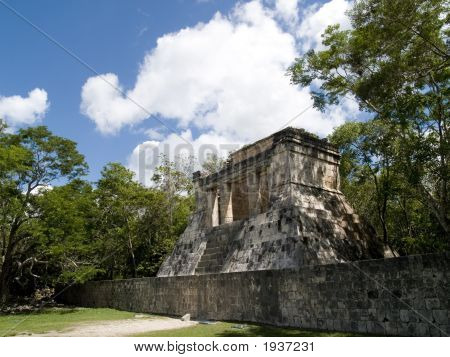 Temple Of Chichen Itza At Mexico