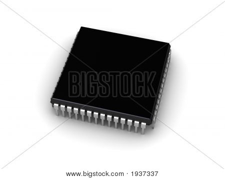 Computer Chip (Place For Your Text)