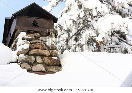 Horizontal Chimney in the Snow