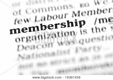 Membership(the Dictionary Project)