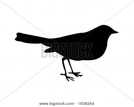 Little Bird Black Silhouette