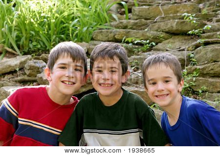 Three Boys In The Outdoors