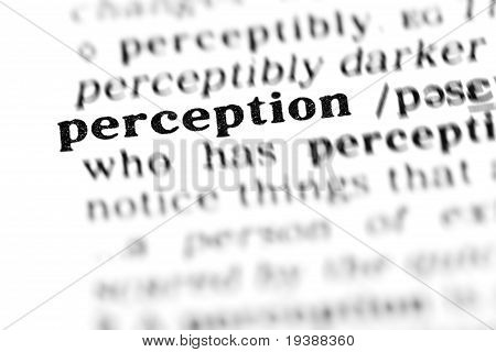 Perception (the Dictionary Project)