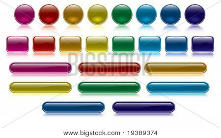 colorful and glossy buttons collection, vector file also available in my portfolio