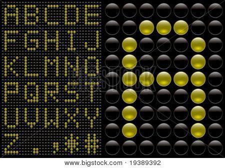vector score board style letters