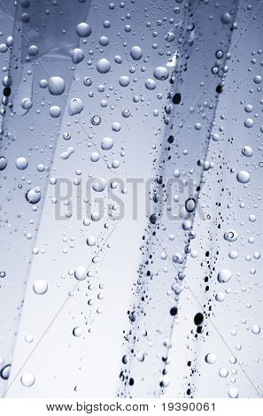 Water drops on a plastic