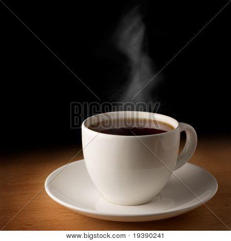 Hot grey tea
