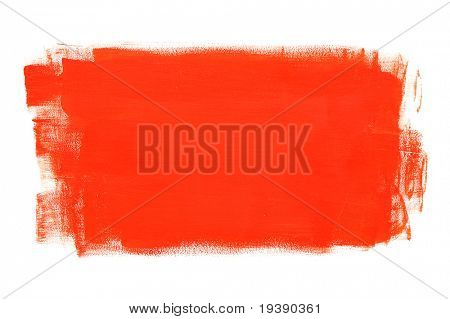 Red brush-painted surface