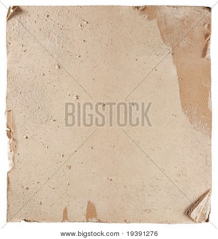 Hi-res texture of damaged plasterboard