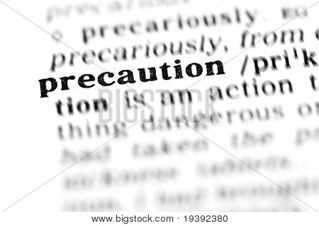 Precaution (the Dictionary Project)