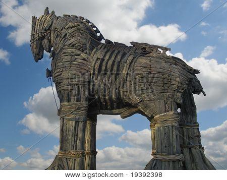 Trojan Horse in Canakkale Square,Turkey.