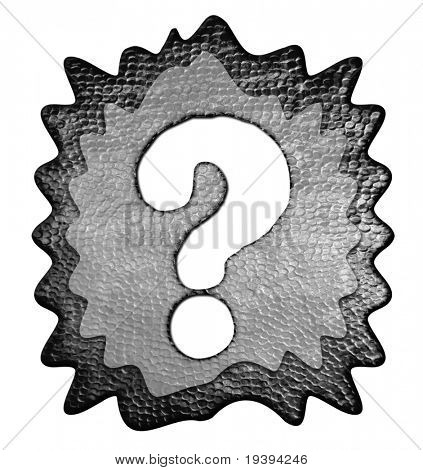 3d Metal Question Mark