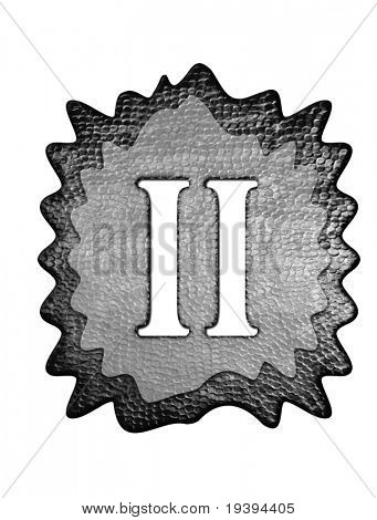 3d metal two roman number