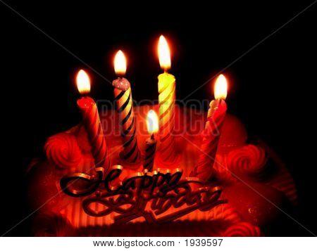 Romantic Birthday In The Dark