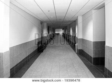 Corridor of a modern building