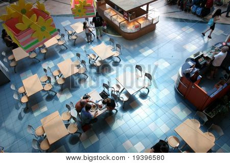 Shopping center. Cafeteria