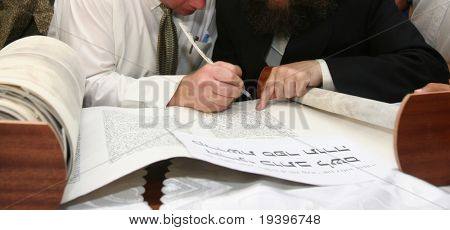 Synagogue and roll torah