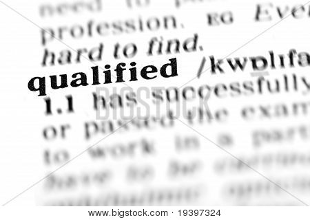 Qualified (the Dictionary Project)
