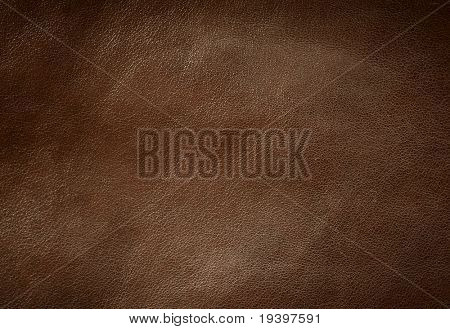Brown leather texture horizontal orientation