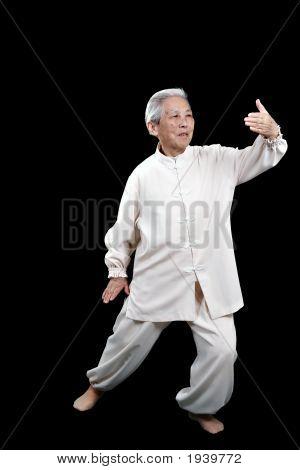 Chinese Elderly Performing Tai Chi