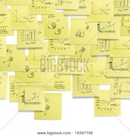 Seamless wallpaper upper composition: business and finance giagram and analyzing on white background