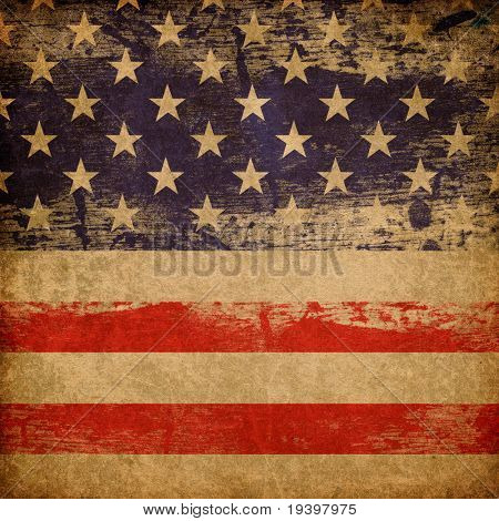 Fondo del tema patriótico estadounidense de grunge.