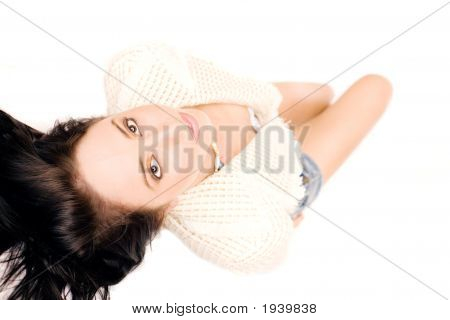 Reclining Fashion Model