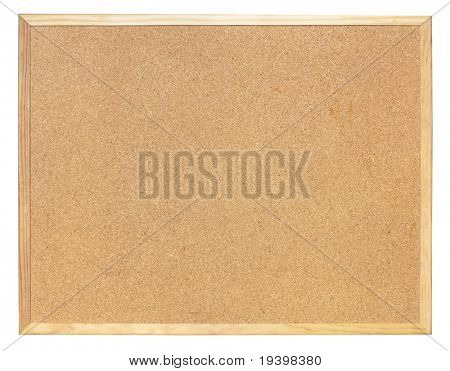Empty pin board isolated with clipping path